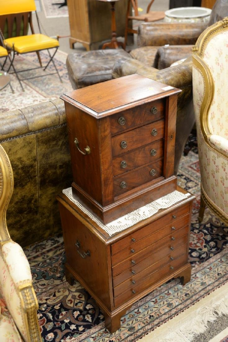 Two mahogany chests including small four drawer - 2