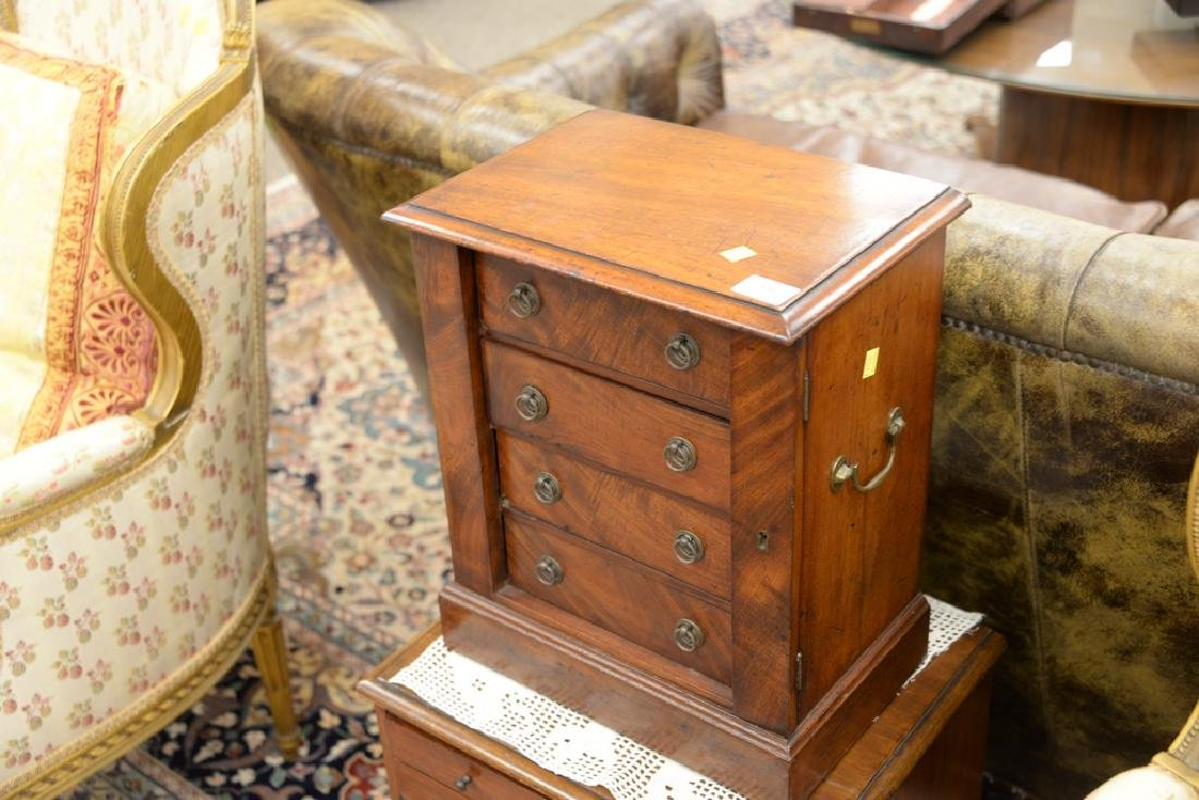 Two mahogany chests including small four drawer - 3