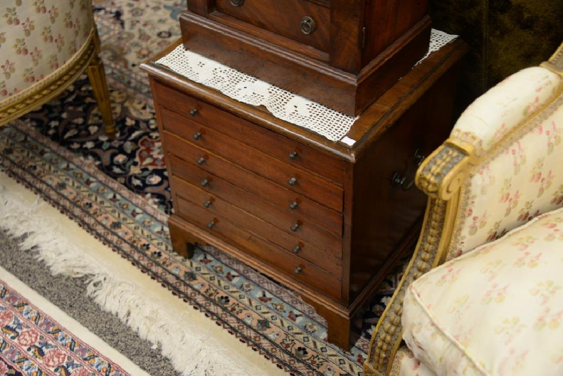 Two mahogany chests including small four drawer - 4