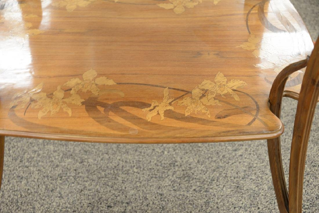 Majorelle mahogany marquetry inlaid two-tier table with - 4