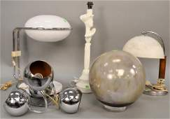 Five piece group to include Evan's Design ceramic ball