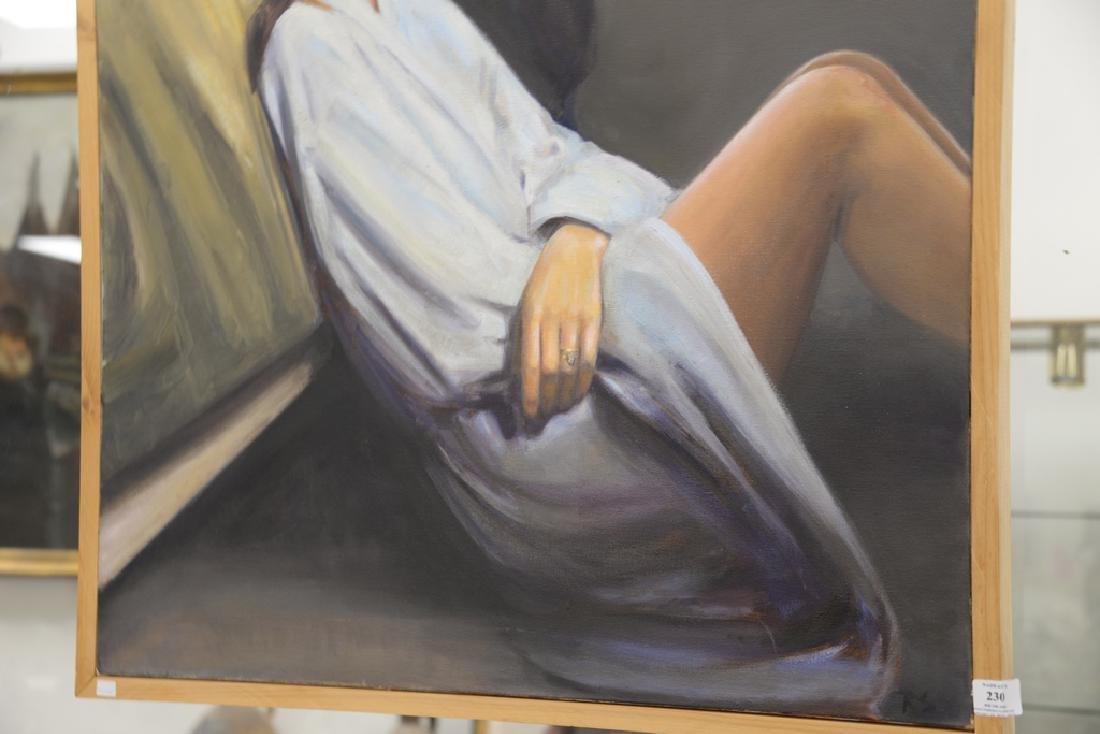 Rebekah Elaine Spencer, oil on canvas, untitled II, - 2