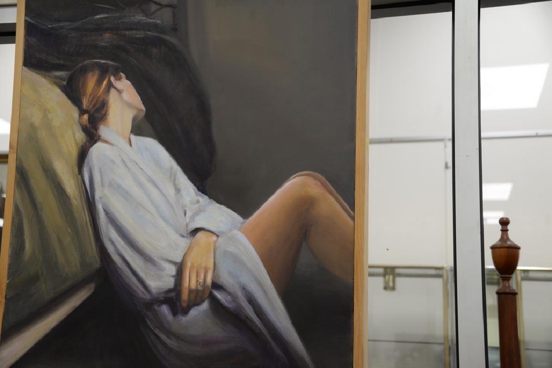 Rebekah Elaine Spencer, oil on canvas, untitled II, - 4