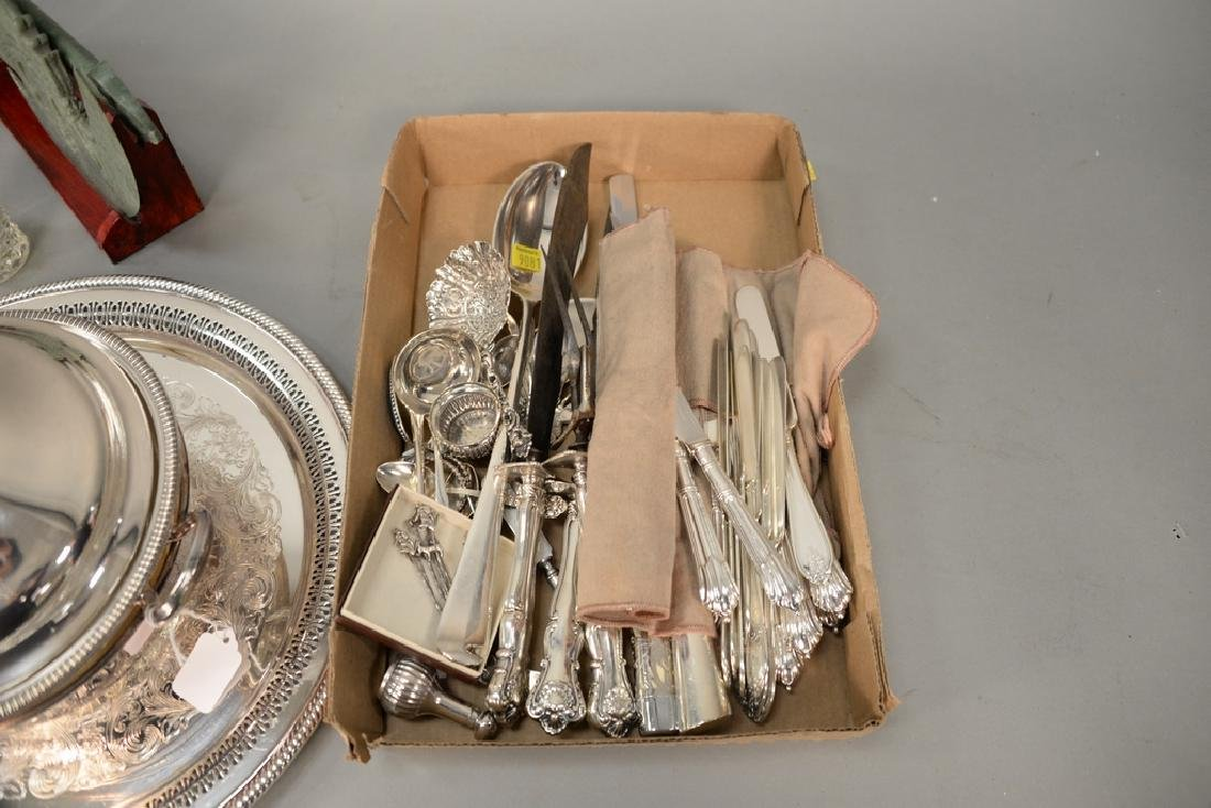 Group of sterling to include serving spoons, - 7