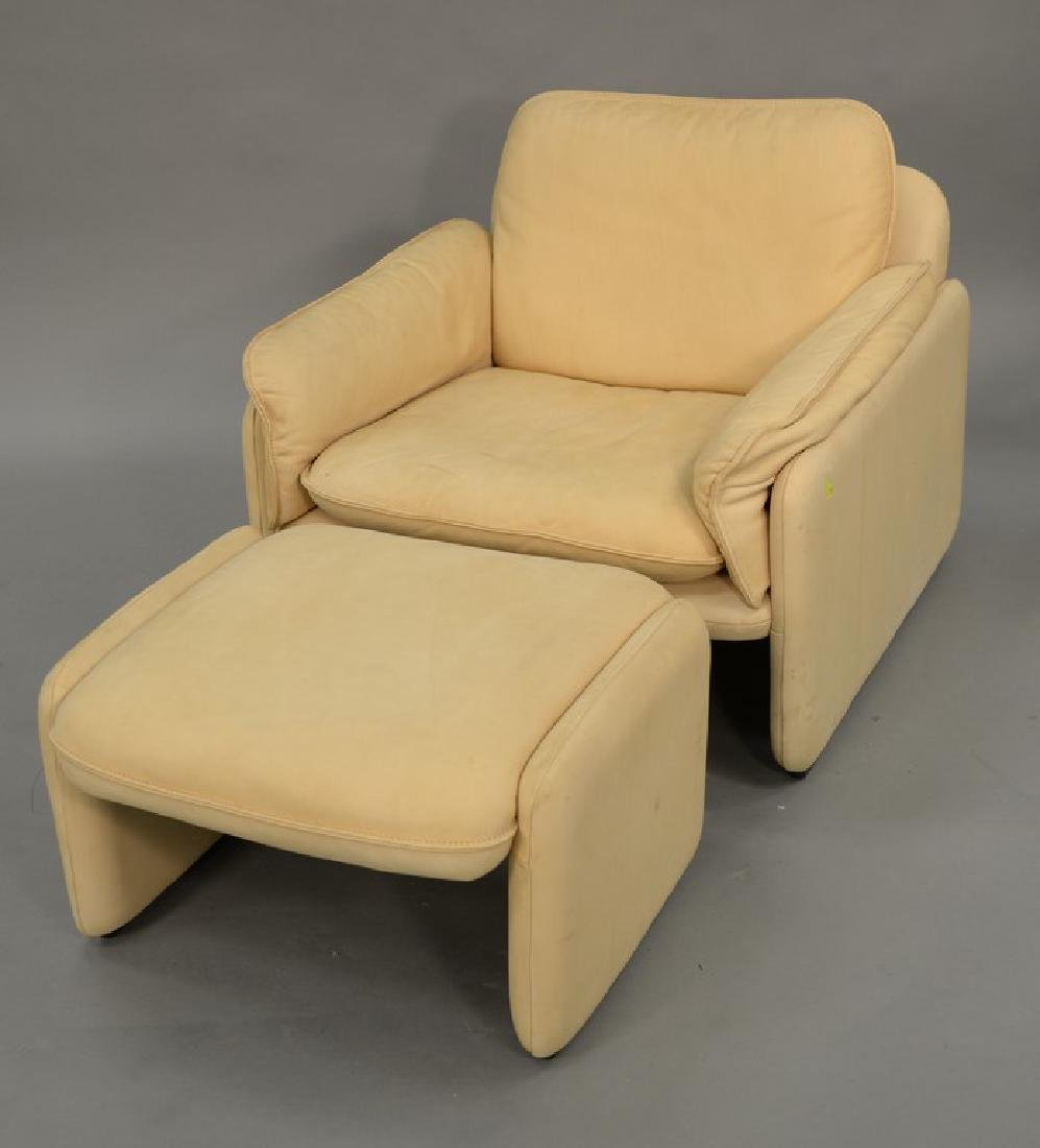 DeSede Turner LTD. leather chair and ottoman. ht. 27