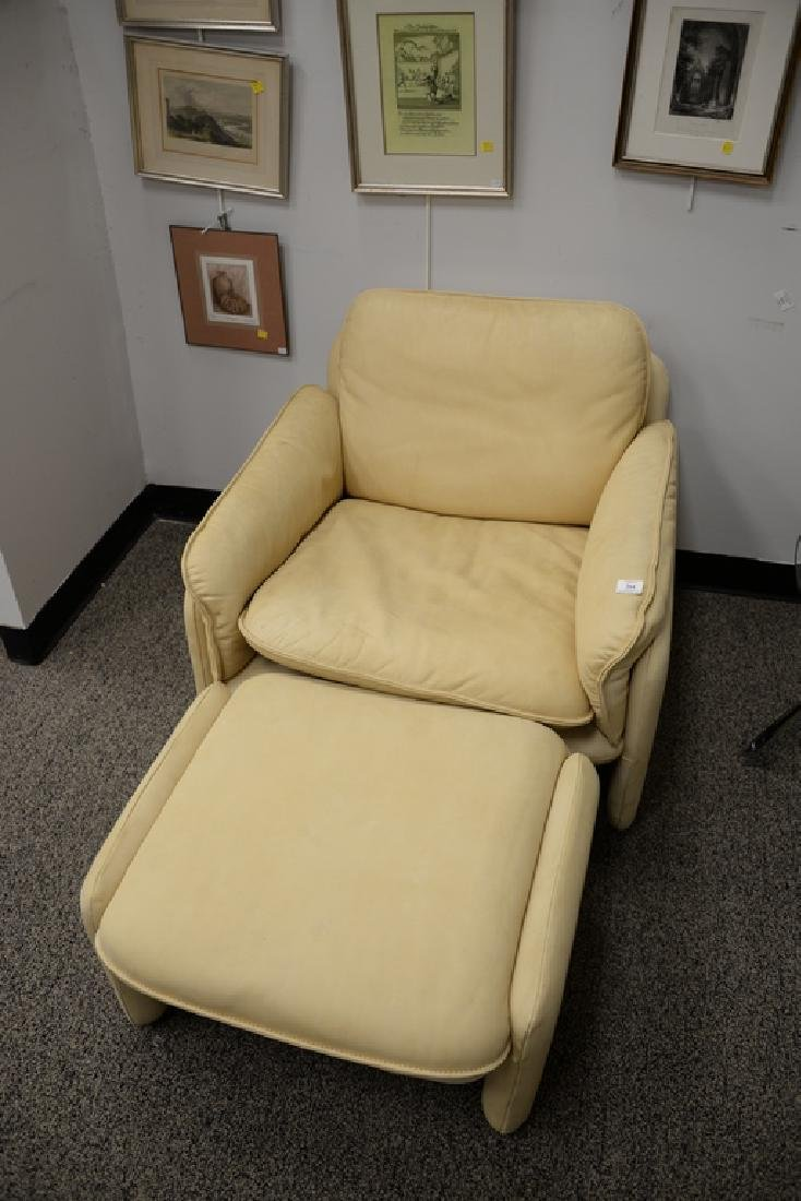 DeSede Turner LTD. leather chair and ottoman. ht. 27 - 2