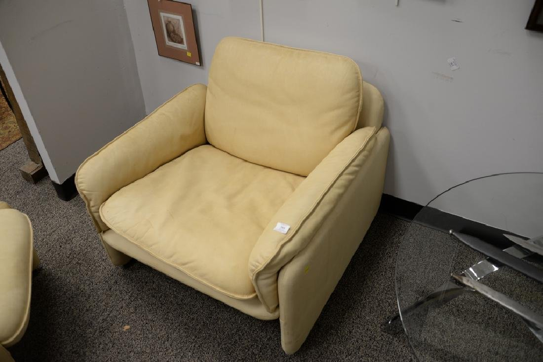 DeSede Turner LTD. leather chair and ottoman. ht. 27 - 3
