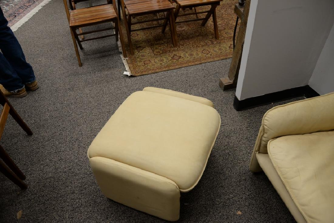 DeSede Turner LTD. leather chair and ottoman. ht. 27 - 4