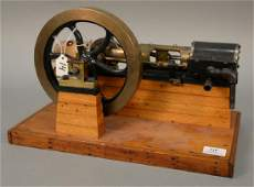Large horizontal steam mill engine mode with bronze 8