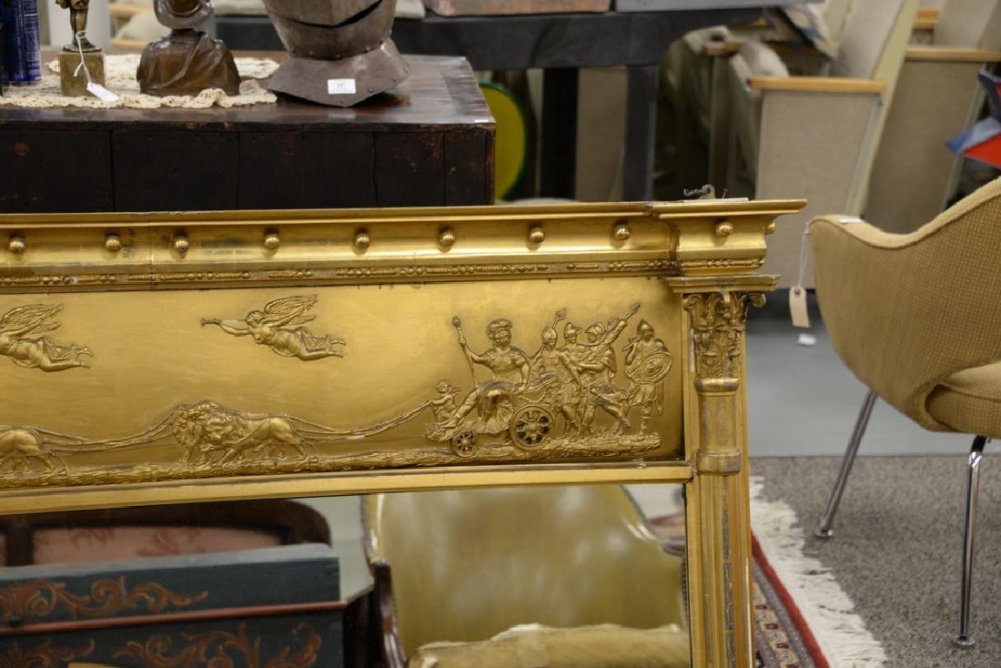 Large Federal over the mantle mirror having gilt frame - 3