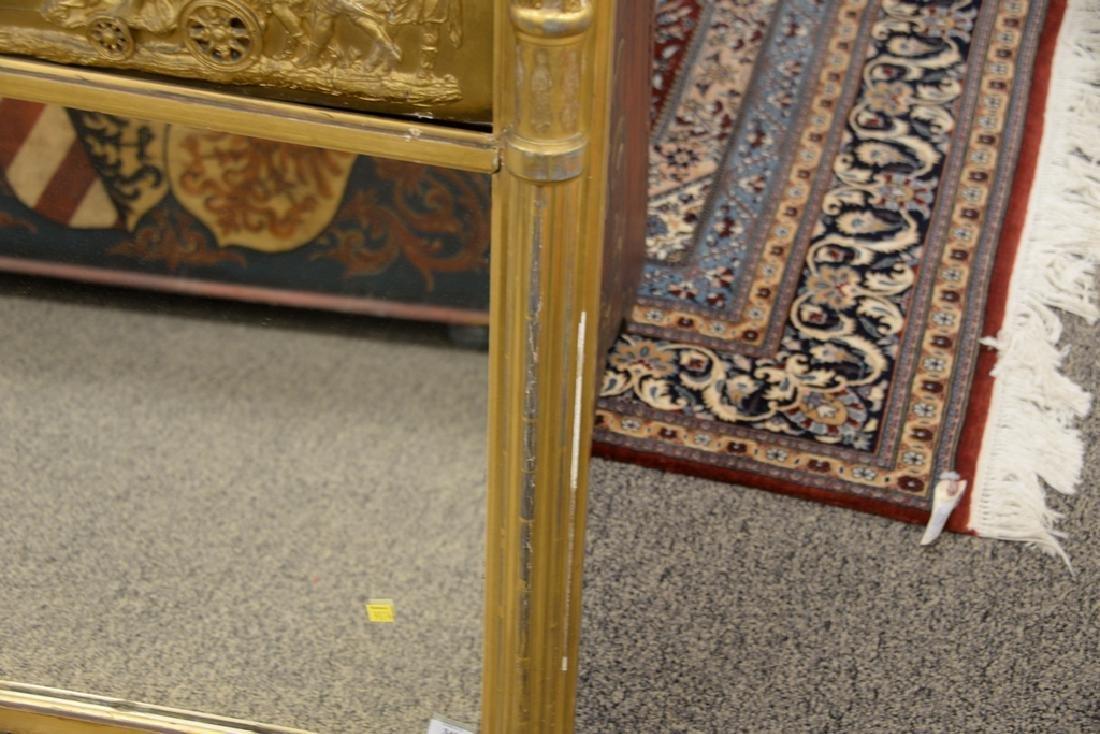Large Federal over the mantle mirror having gilt frame - 4