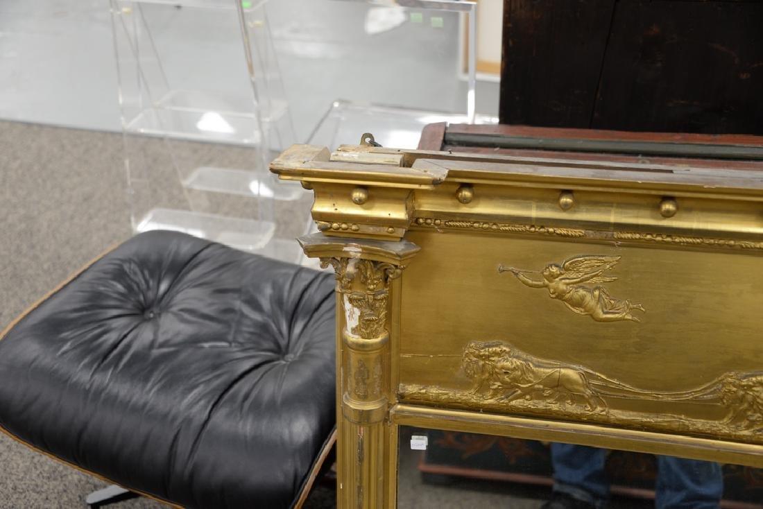 Large Federal over the mantle mirror having gilt frame - 5