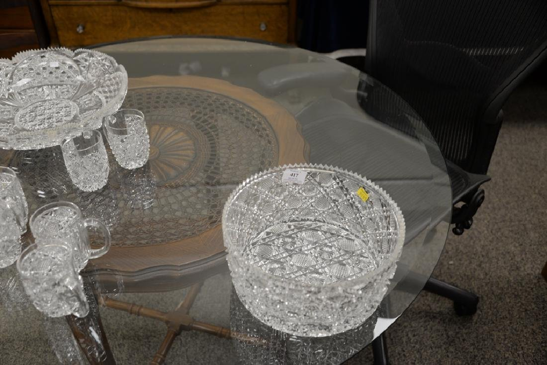 Group of cut glass to include a punch bowl with twelve - 5