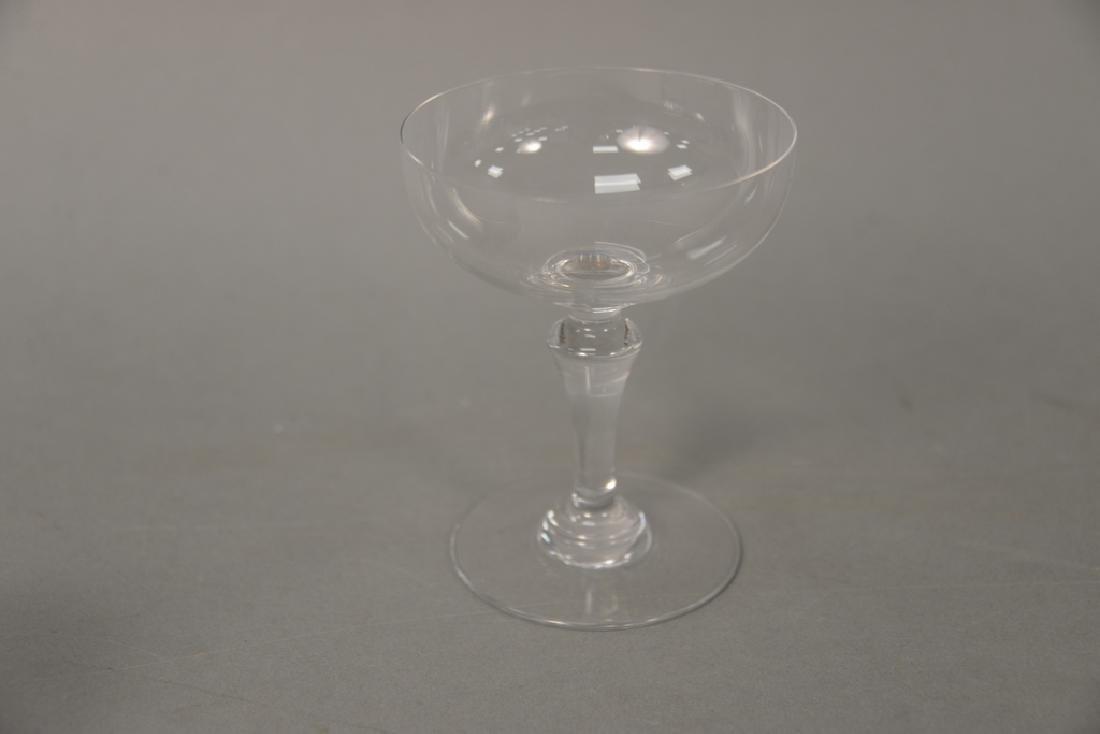 Two sets of Baccarat crystal glasses, set of twelve - 4