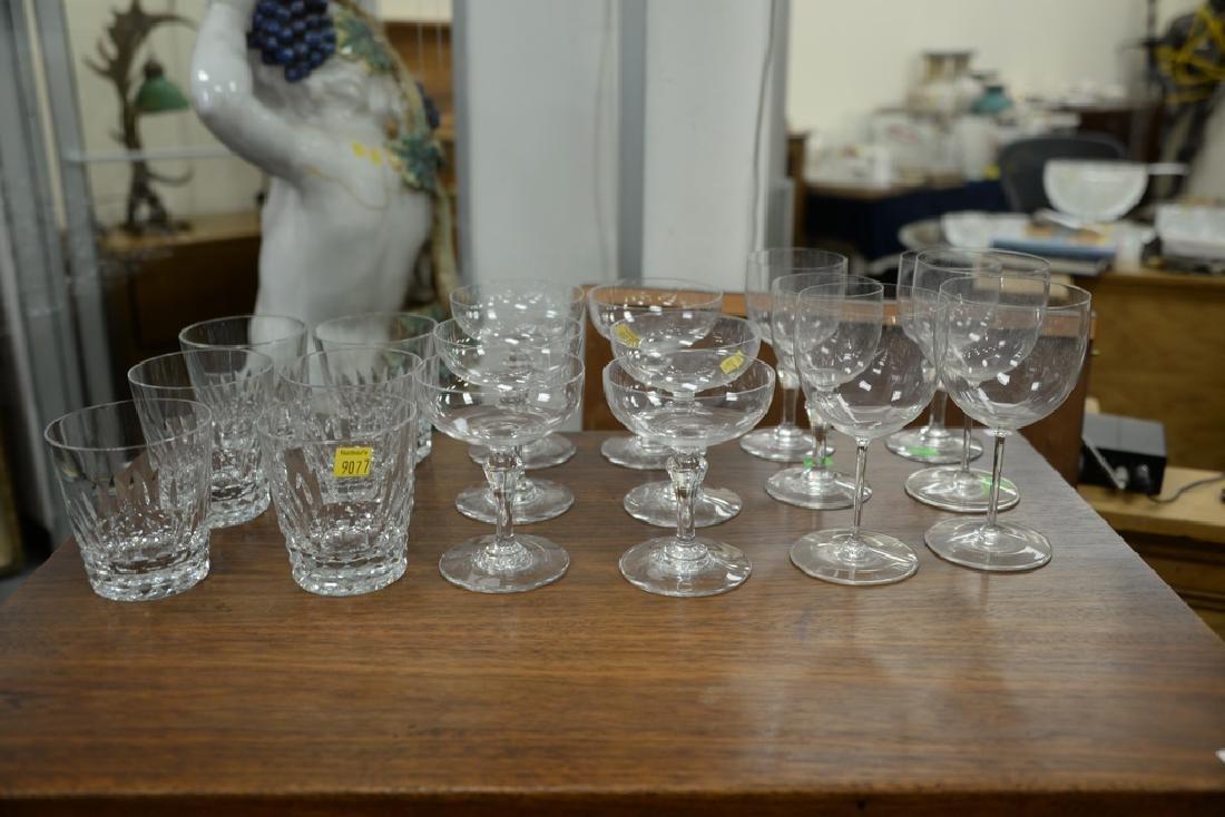 Two sets of Baccarat crystal glasses, set of twelve - 7
