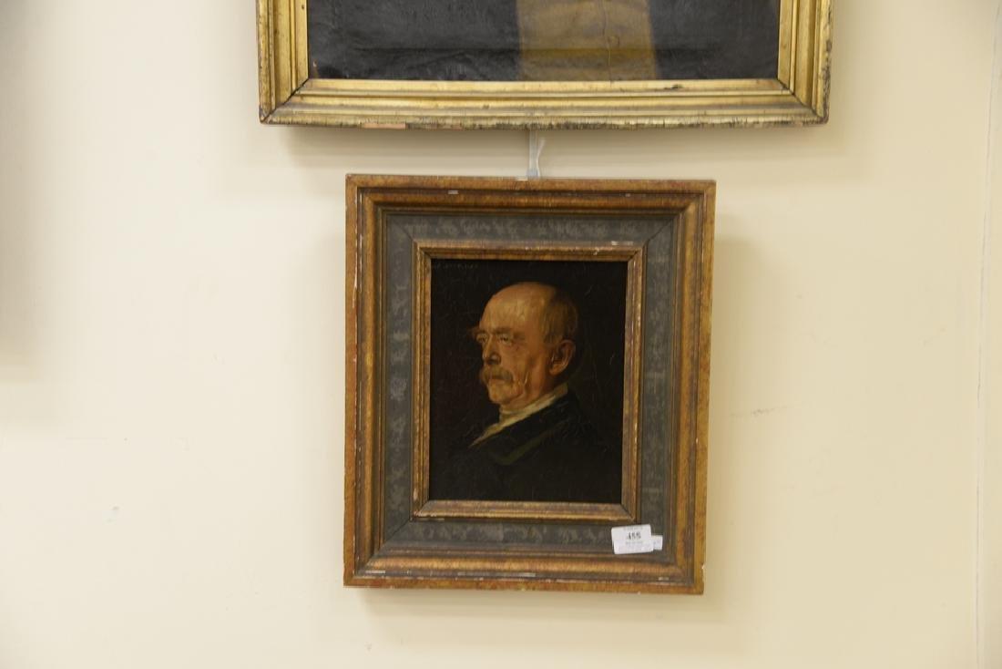 Two framed portraits, portrait of gentleman, oil on - 2
