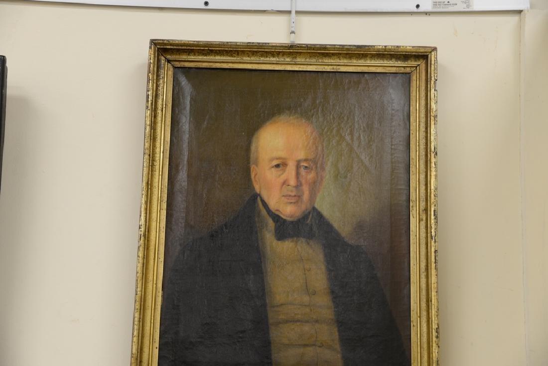 Two framed portraits, portrait of gentleman, oil on - 3