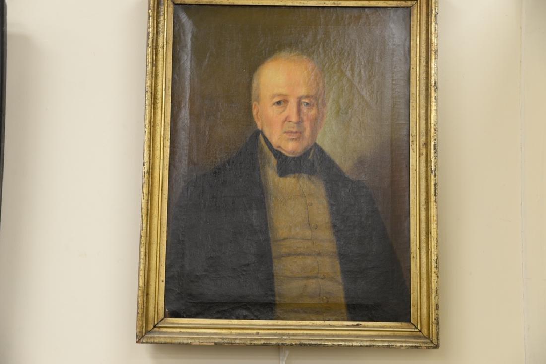 Two framed portraits, portrait of gentleman, oil on - 4