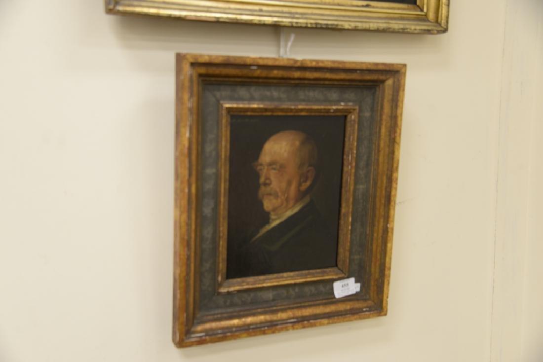 Two framed portraits, portrait of gentleman, oil on - 5