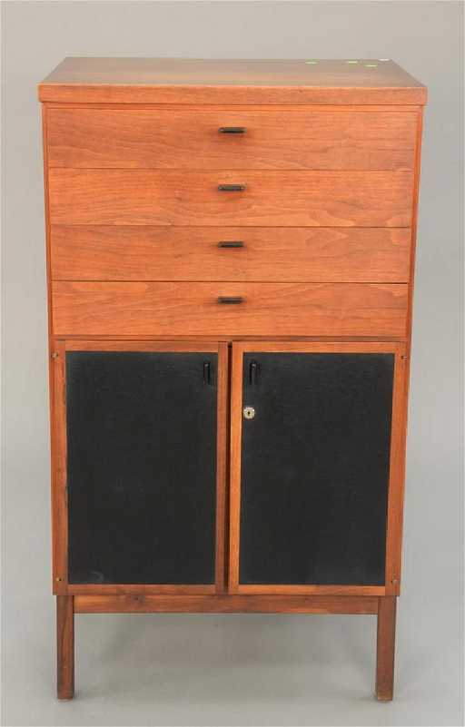 Small Danish Modern Rosewood Server And Liquor Cabinet Placeholder