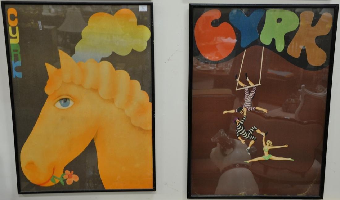 Group of seven Cyrk Vintage posters including Jan Sawka