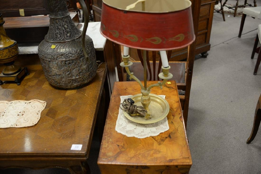 Seven table lamps to include bouillotte style lamp with - 6