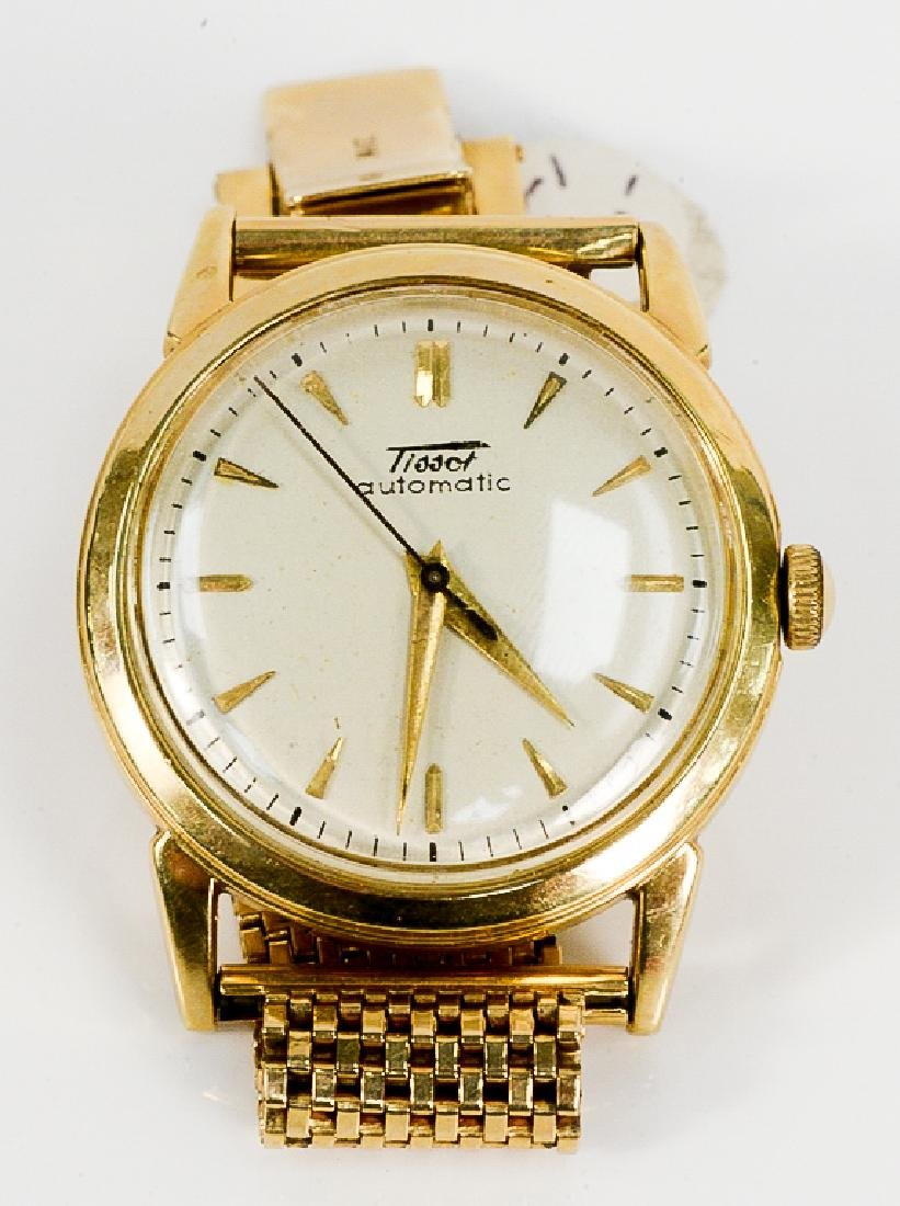 Tissot Automatic 14 karat gold mens wristwatch with 14