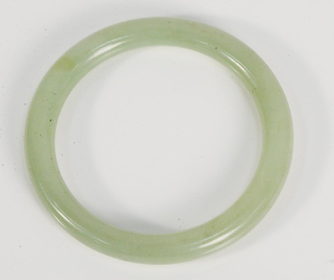 Hardstone bracelet, pale green, 10.55mm, 66mm interior,