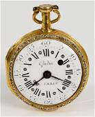 French Gudin 18 karat gold open face pocket watch