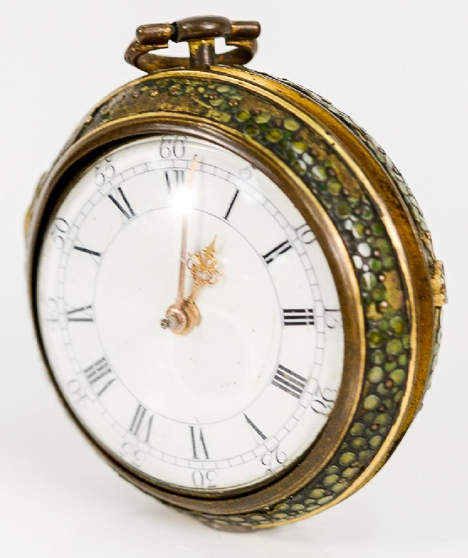 William Allam pocket watch having white enameled dial,
