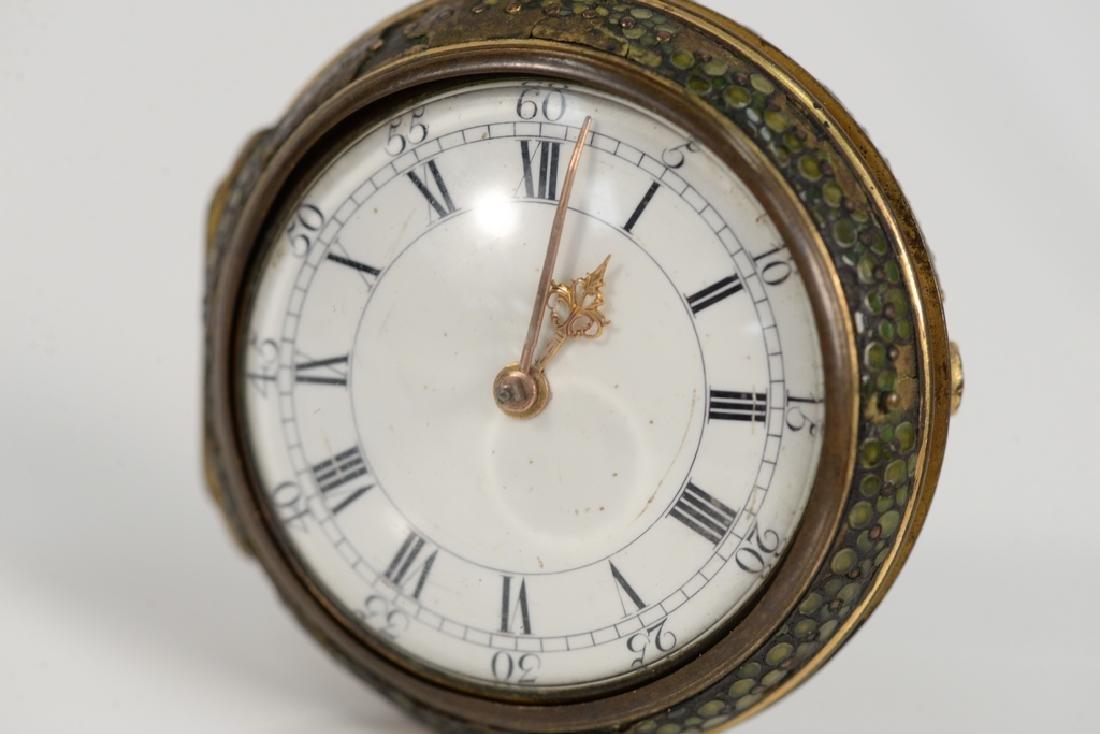 William Allam pocket watch having white enameled dial, - 2