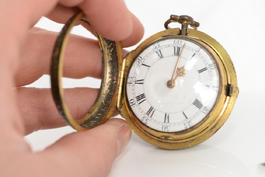William Allam pocket watch having white enameled dial, - 4