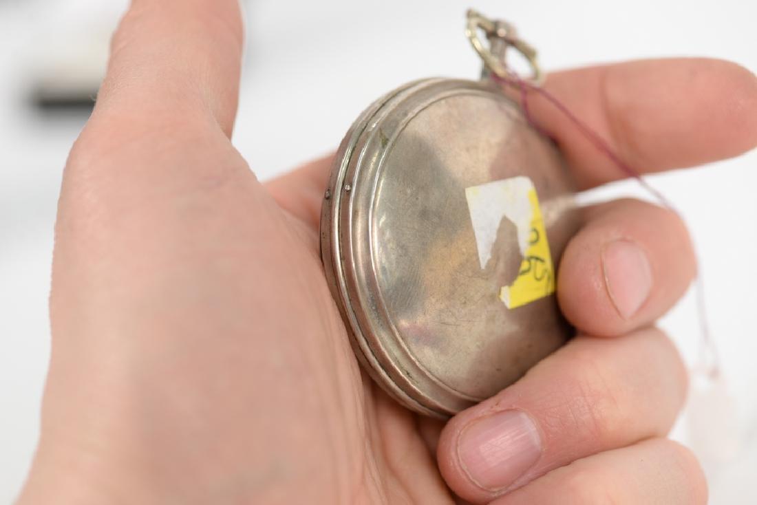 Breguet silver pocket watch having white enameled dial - 2