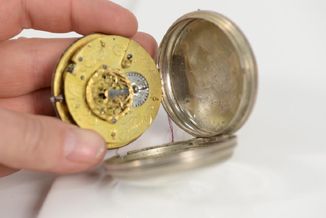 Breguet silver pocket watch having white enameled dial - 3