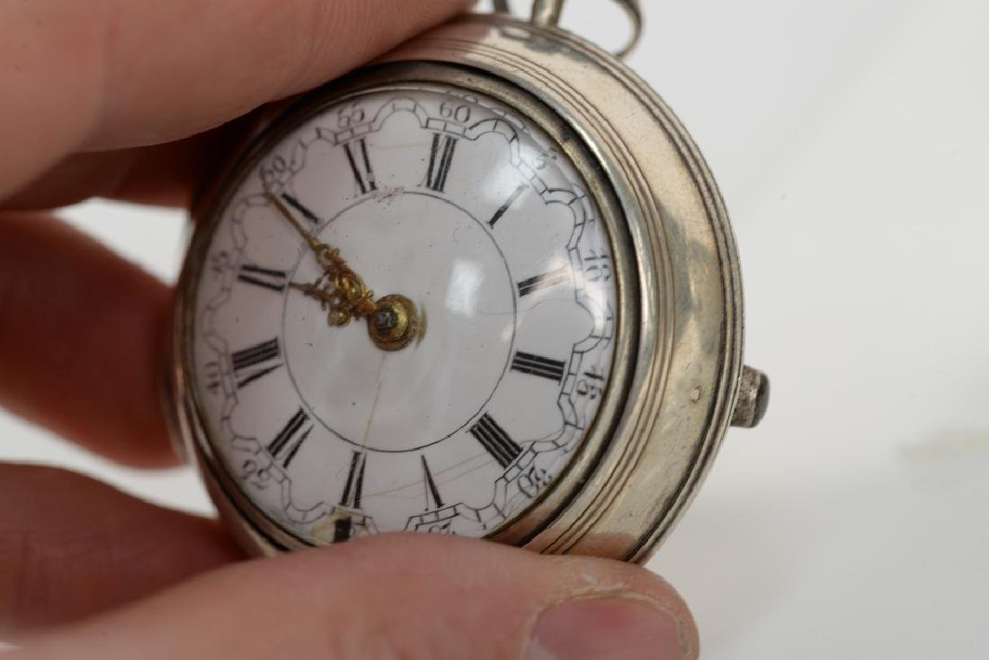 Three silver pair cased pocket watches including Robert - 2