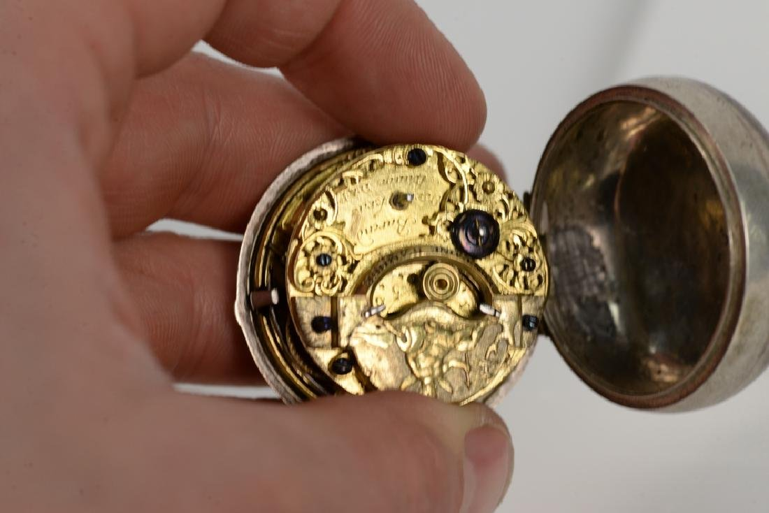 Three silver pair cased pocket watches including Robert - 3