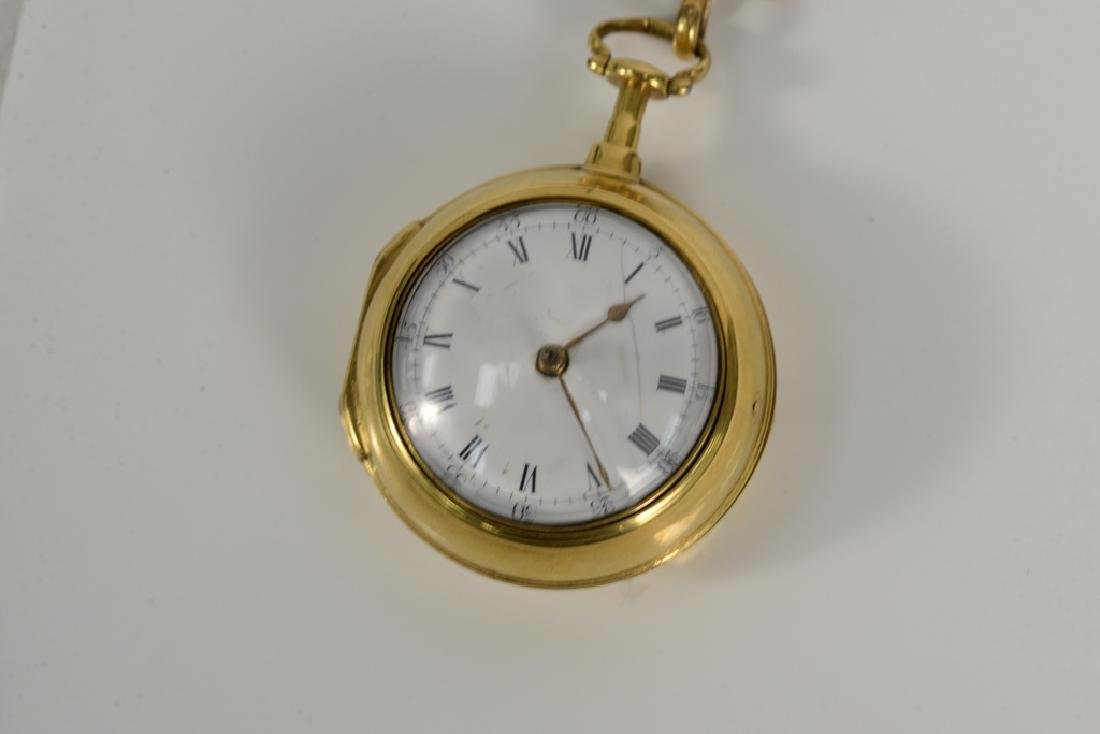 Perigal gilt pair cased pocket watch with white - 3