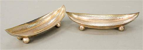 Tiffany  Co pair of sterling silver hand hammered