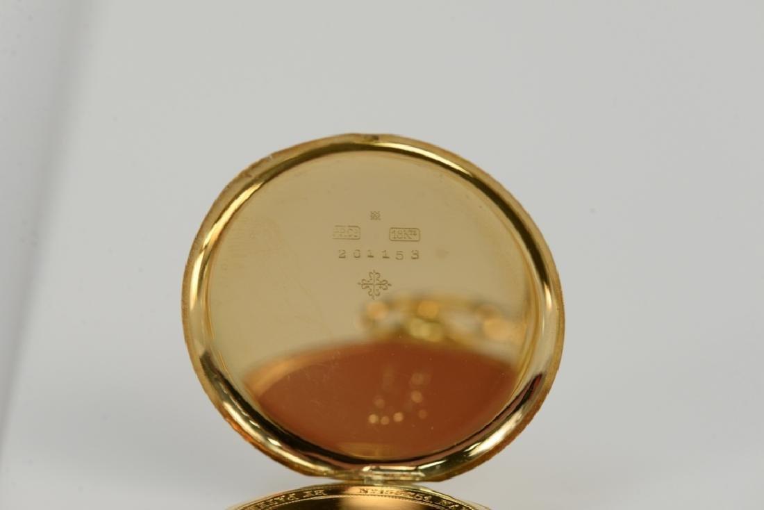 Patek Philippe 18 karat open face pocket watch, made - 5