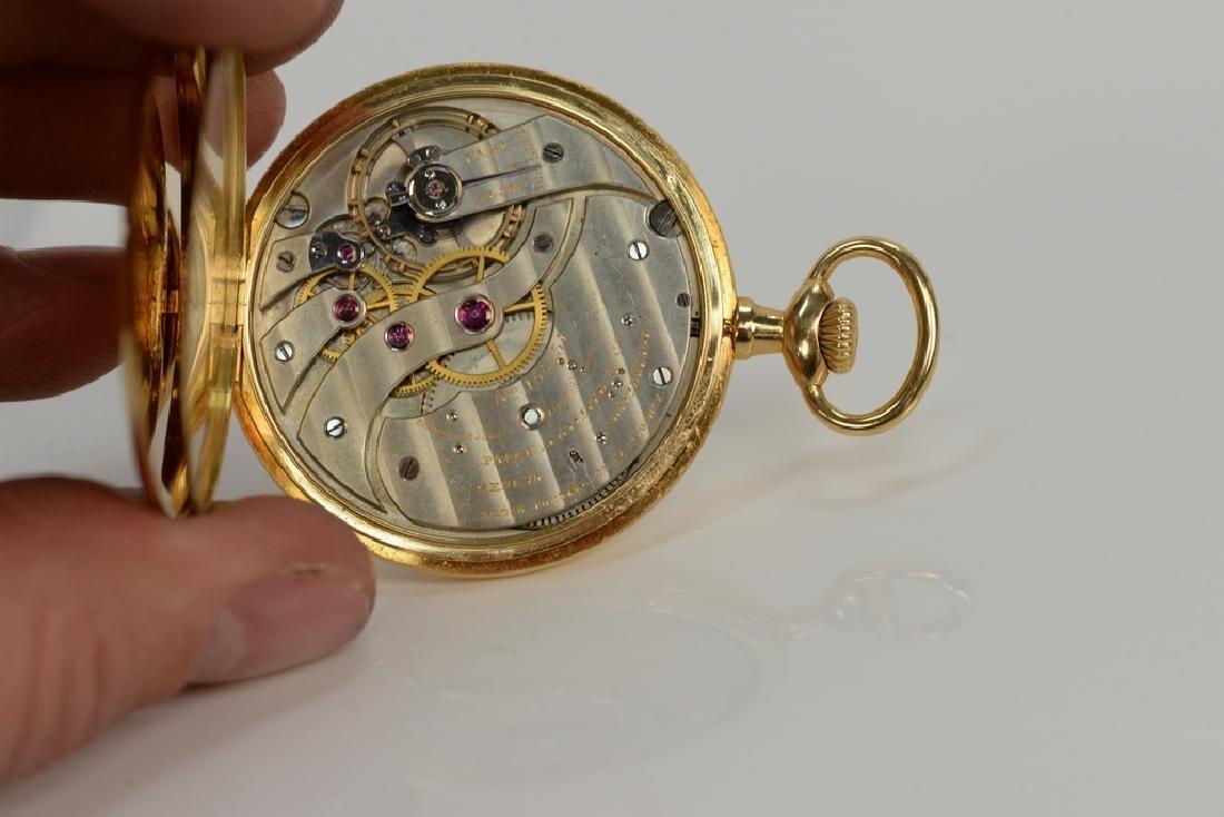Patek Philippe 18 karat open face pocket watch, made - 6