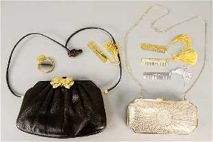 195f0a5a1b Two Judith Leiber bags including a silver and gold