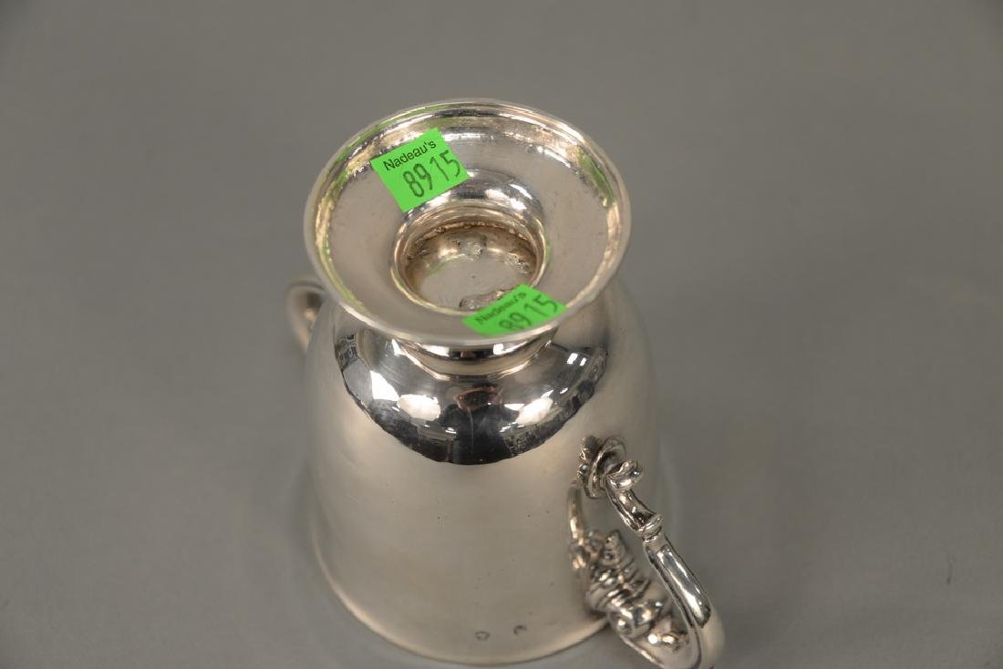 Georgian Irish silver two handled cup.  ht. 5 1/4 in. - 5