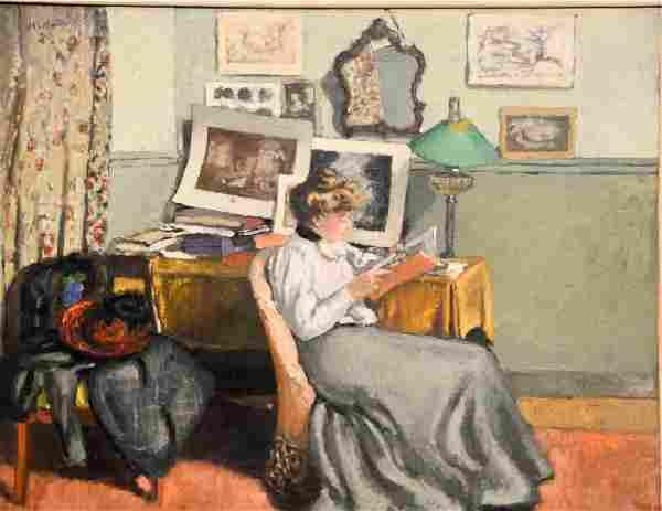Albert Andre (1869-1954), oil on canvas, Interior,