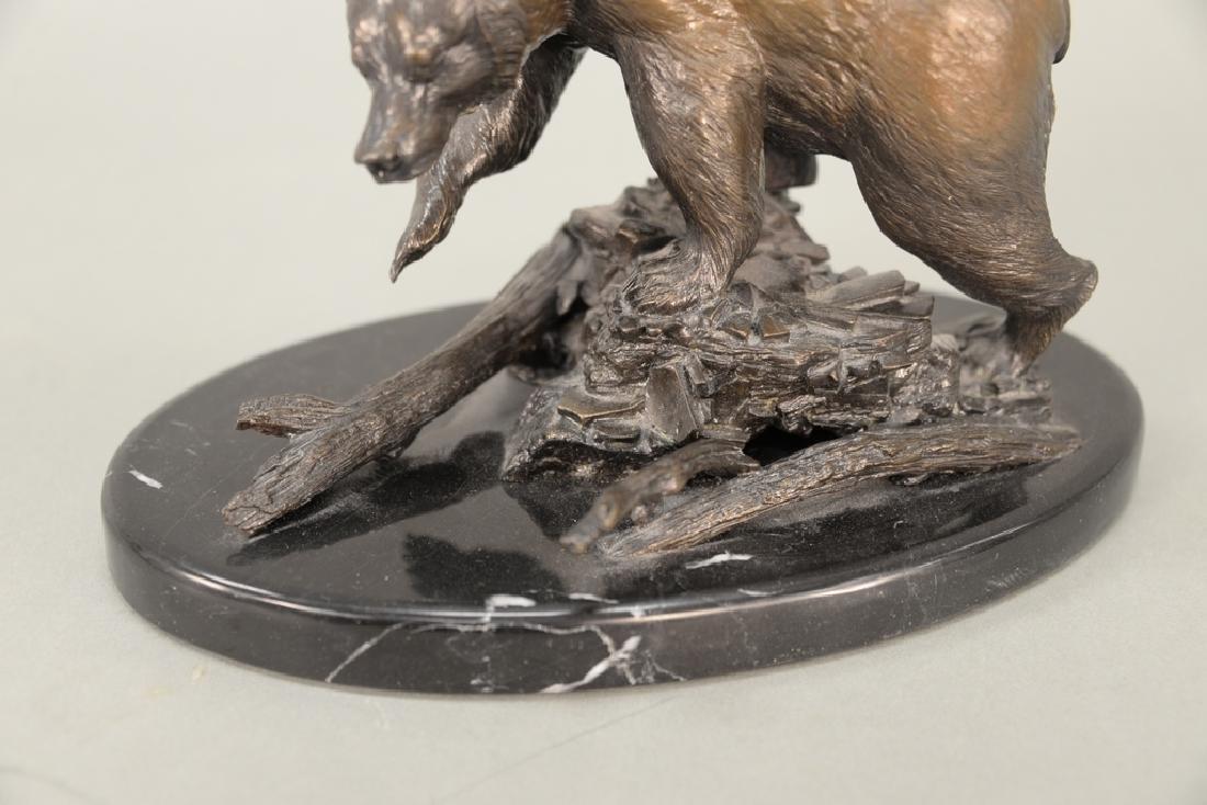 William Davis,  bronze grizzly bear on oval granite - 3