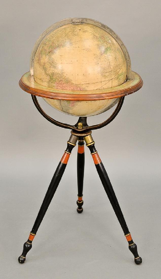 Gilman & Johnson Boston 1852 Terrestrial globe on