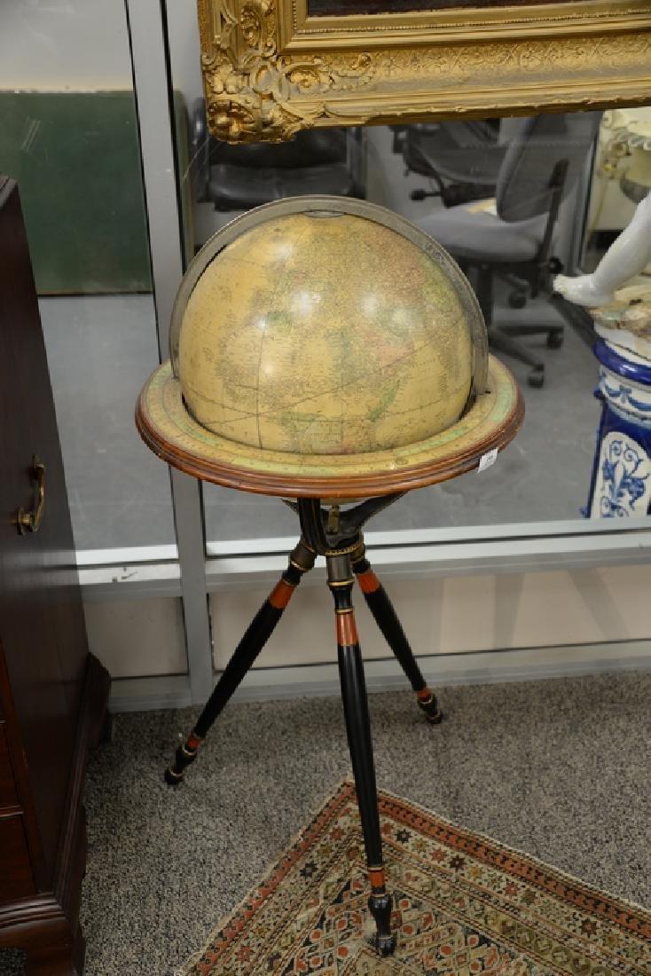 Gilman & Johnson Boston 1852 Terrestrial globe on - 2