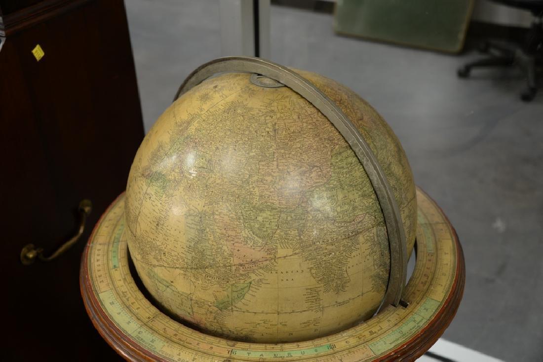 Gilman & Johnson Boston 1852 Terrestrial globe on - 3
