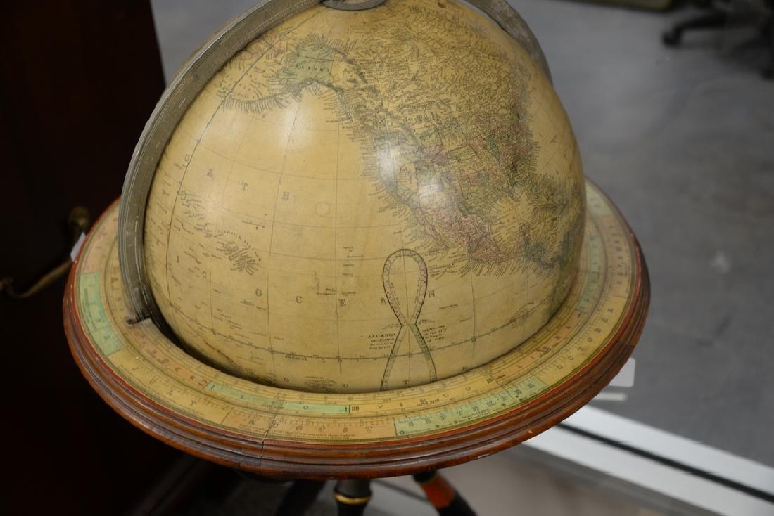 Gilman & Johnson Boston 1852 Terrestrial globe on - 6