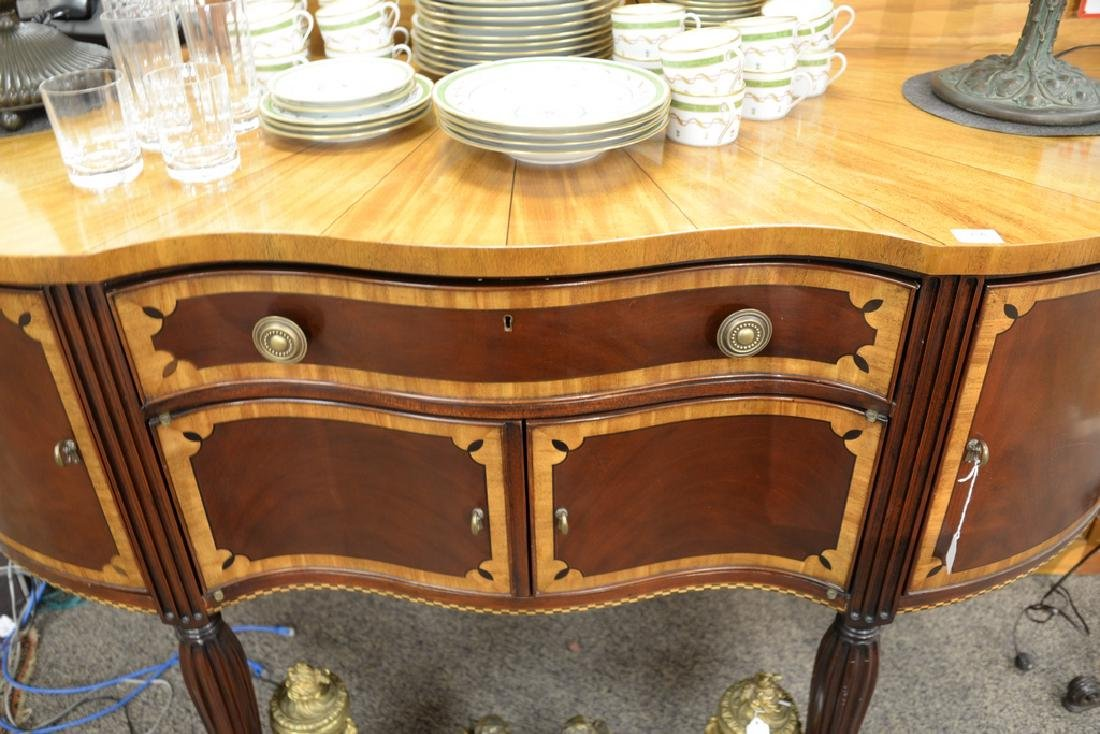 Council mahogany inlaid Sheraton style sideboard with - 3