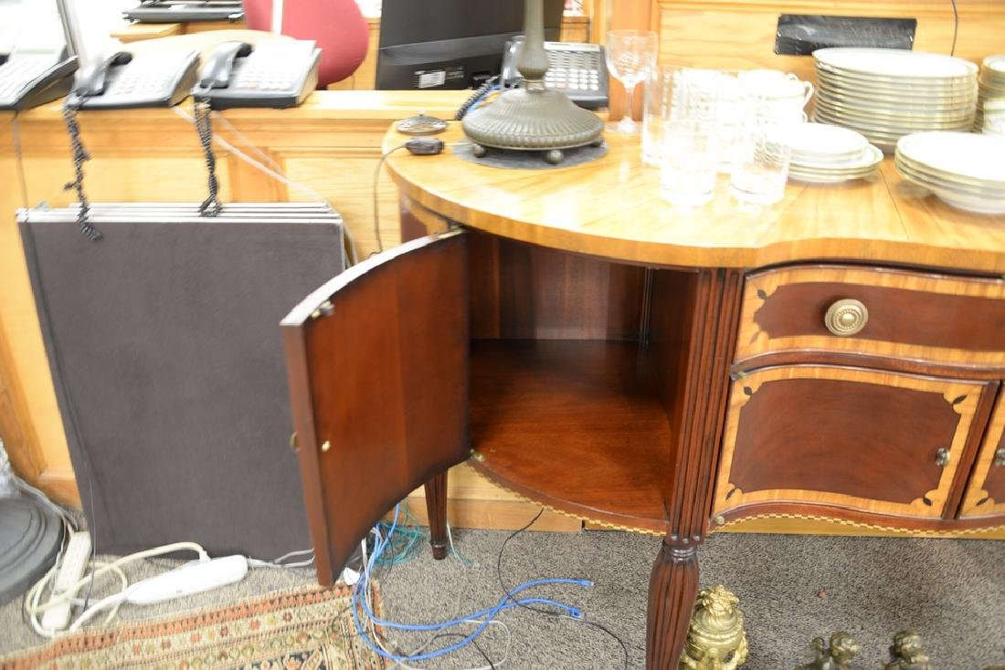Council mahogany inlaid Sheraton style sideboard with - 6
